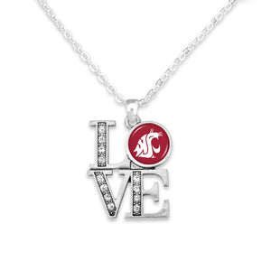 Washington State Cougars LOVE Necklace
