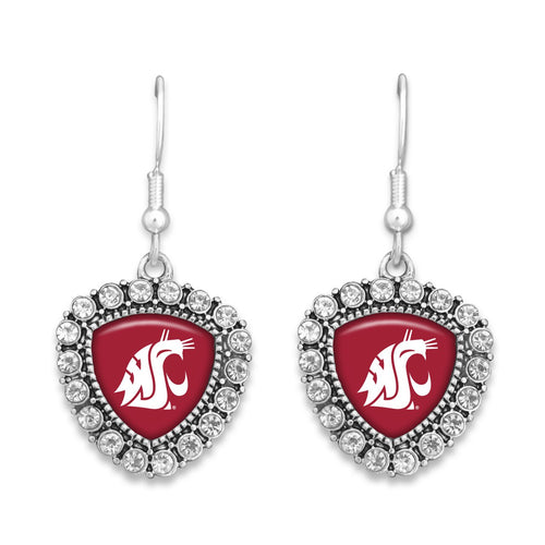 Washington State Cougars Brooke Crystal Earrings