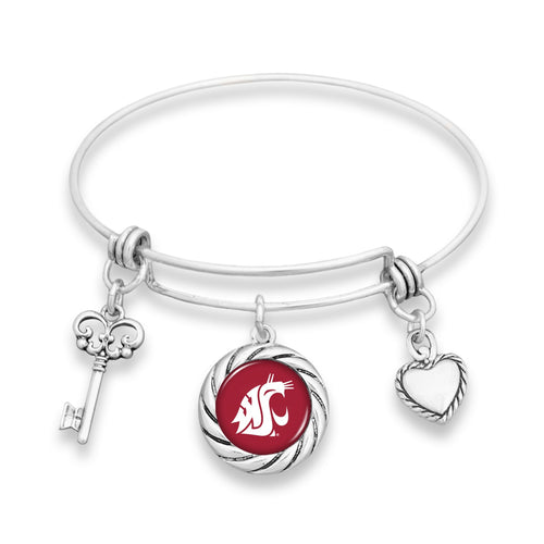 Washington State Cougars Twisted Rope Bracelet