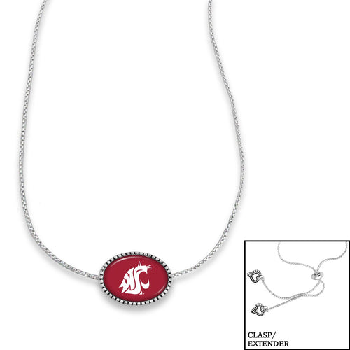 Washington State Cougars Adjustable Slider Bead Necklace