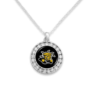 Wichita State Shockers Kenzie Round Crystal Charm Necklace