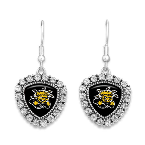 Wichita State Shockers Brooke Cyrstal Earrings
