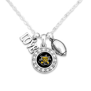 Wichita State Shockers Football, Love and Logo Necklace