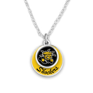 Wichita State Shockers Stacked Disk Necklace