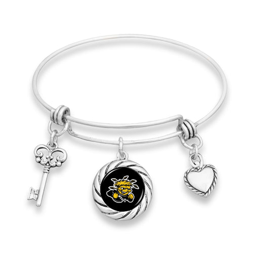 Wichita State Shockers Twisted Rope Bracelet