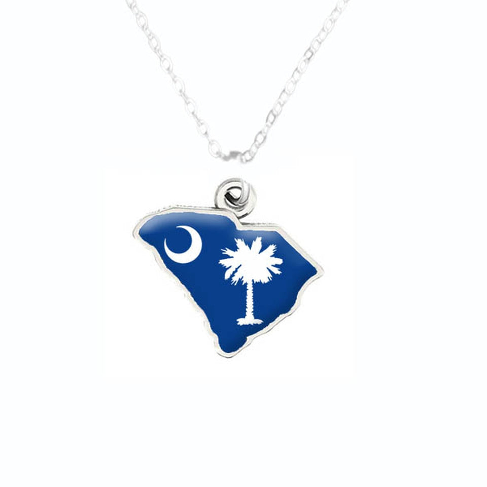 South Carolina State Pride ''Palmetto Moon State'' Necklace