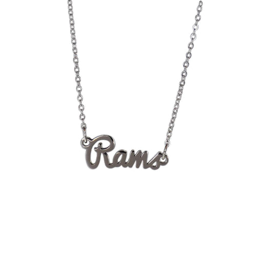 Colorado State Rams Script Silver Necklace