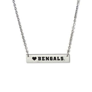 Idaho State Bengals Silver Bar Necklace