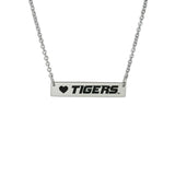 University of Missouri Tigers Silver Bar Necklace