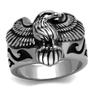High Polished American Eagle Stainless Steel Biker Ring