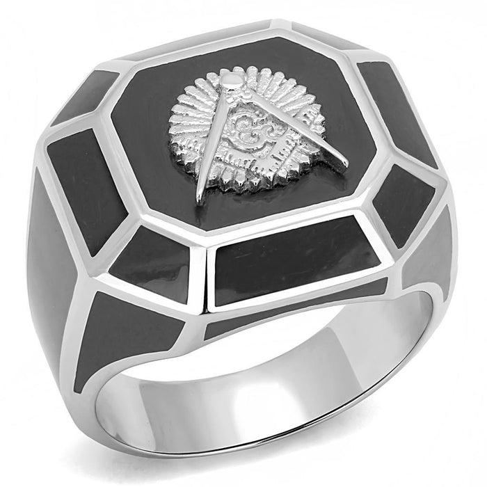 High Polished Free and Accepted Mason Stainless Steel Biker Ring