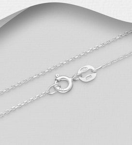 Italian Sterling Silver Chain, 0.5 mm Wide