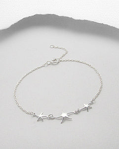 Sterling Silver Starfish Design Bracelet