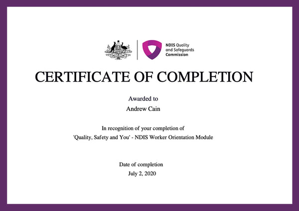 NDIS Quality Safety and You