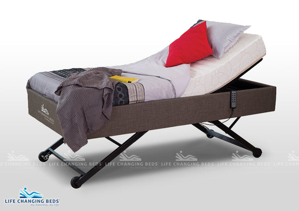 Medi-Sleep Hi-Lo Bed MK 12 with standard mattress adjust foam