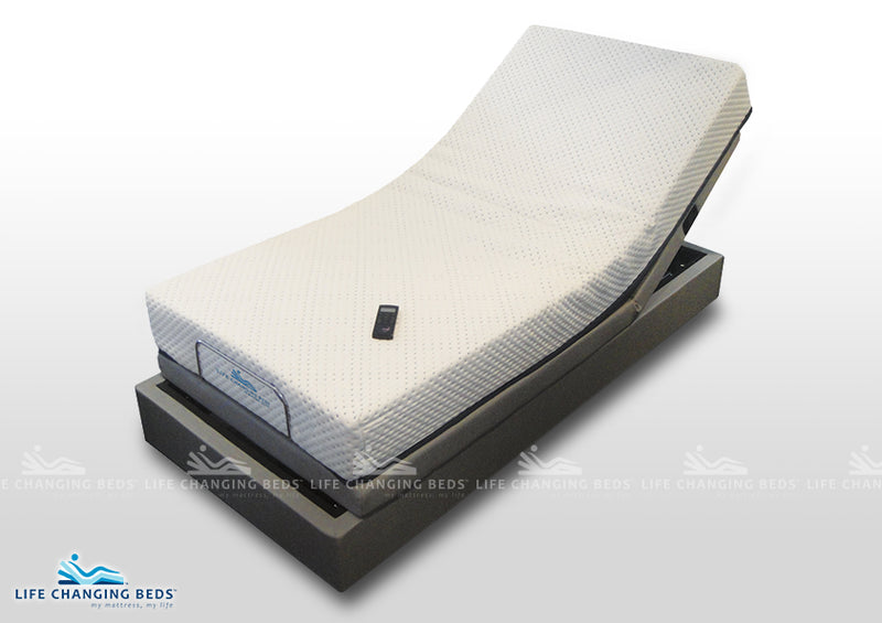 Long Single adjustable bed base style Flexibility 14 power bed including standard foam mattress