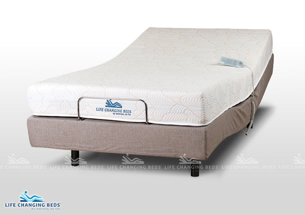 Queen size Flexibility adjustable style bed base 1210 including coil adjust mattress