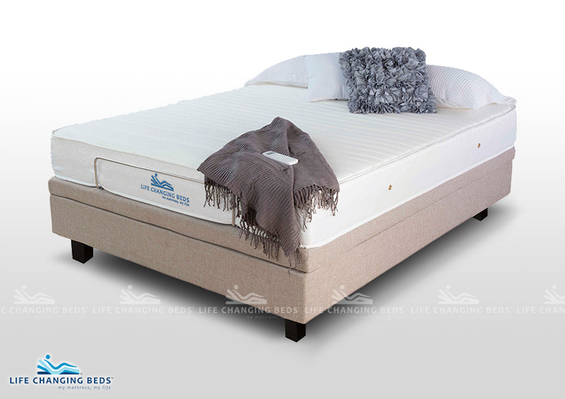 Double Size Flexibility adjustable style bed base 1220 including standard foam mattress
