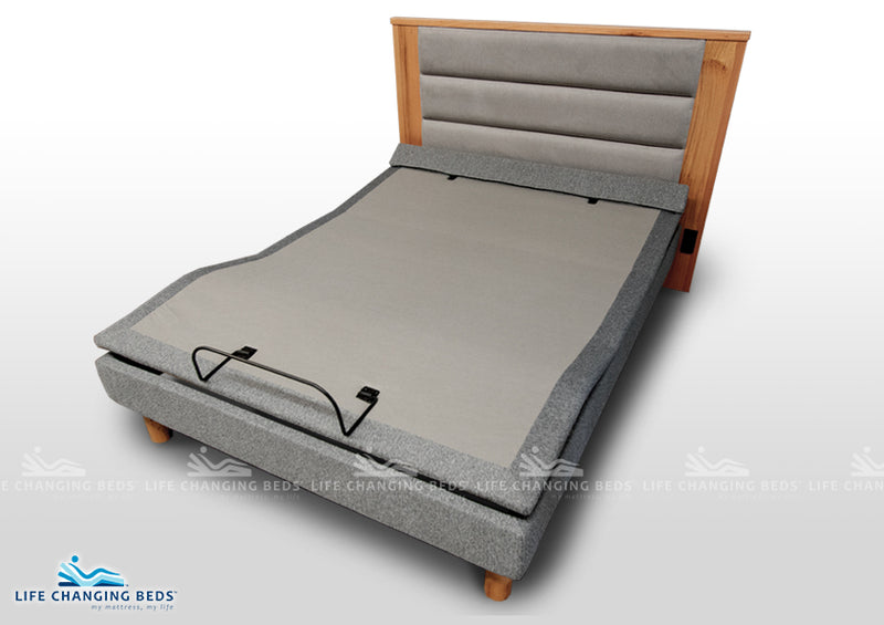 Queen size Flexibility adjustable style bed base MK15 - Black Charcoal fabric only