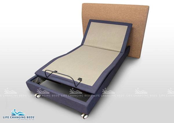 Narrow long single adjustable bed base style Flexibility MK15 B Model available in selected sizes