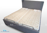 King size split adjustable bed base style Flexibility MK16 including Belgium latex mattresses