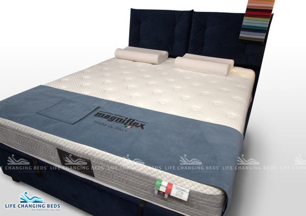 King Size Made Pillow Top Gas-lift Storage Bed. Customisable model