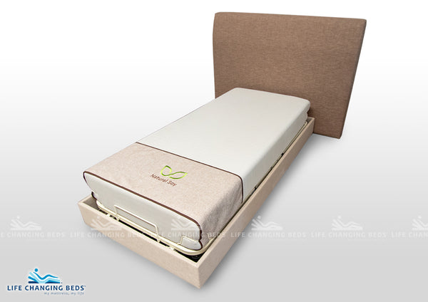 Medi Sleep MK 3 Long Single bed base with you're choice of fabric