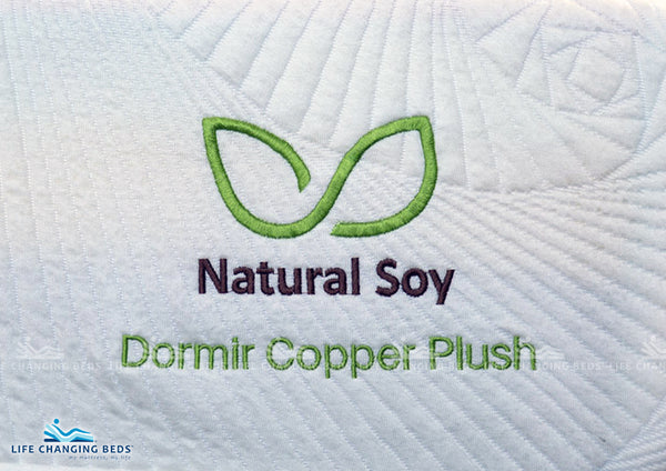 Queen Size Natural Soy Dormir Copper Plush mattress. Customisable model