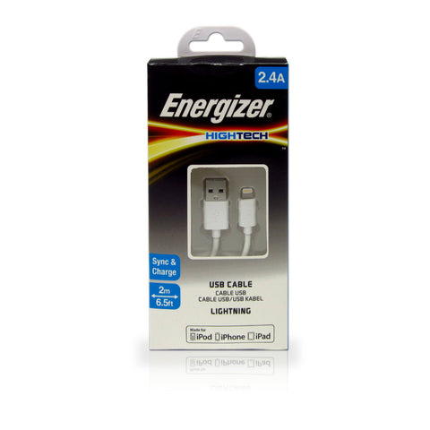 Energizer 2m Lightning Cable (White)