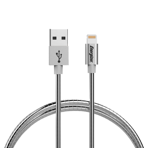 Energizer Resistant Silver metallic lightning cable - 1.2m