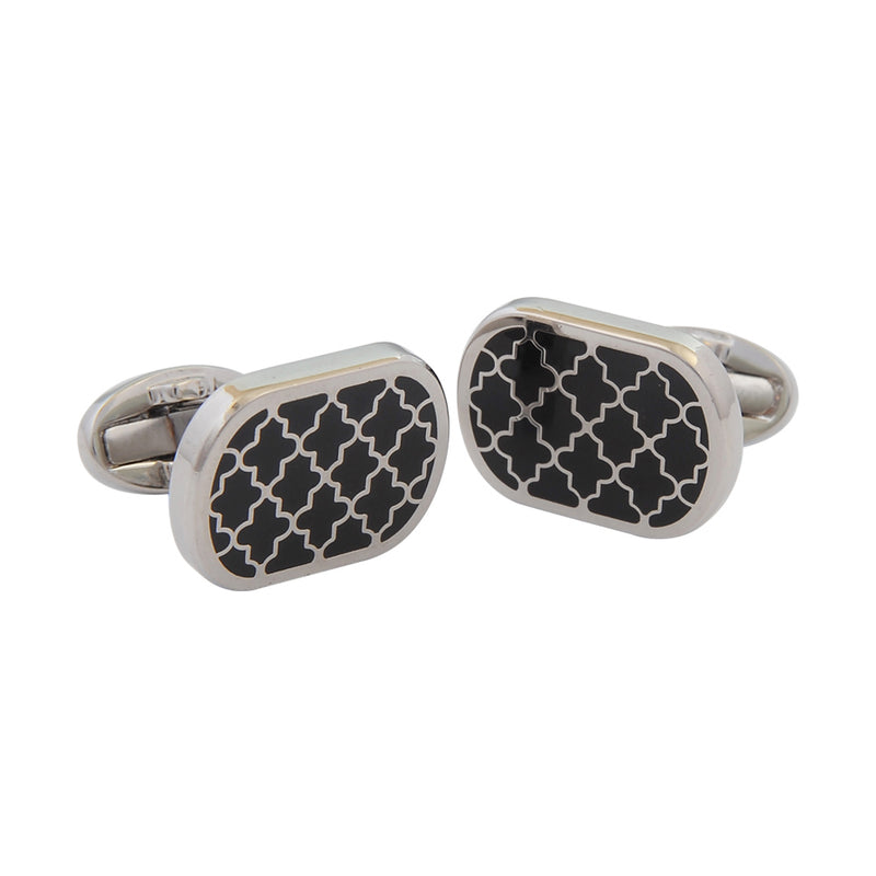 Agama Black & Palladium Cufflinks