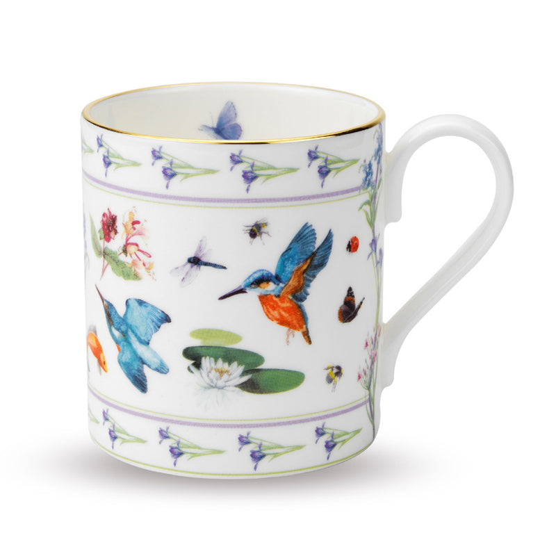 Kingfisher Iris Mug, White