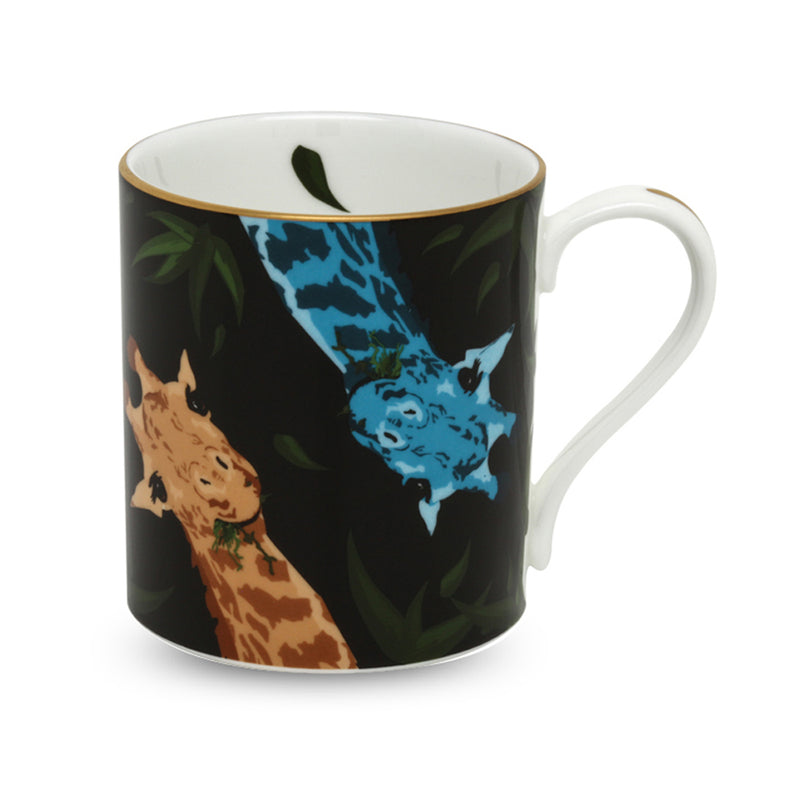Giraffe Family Mug Black