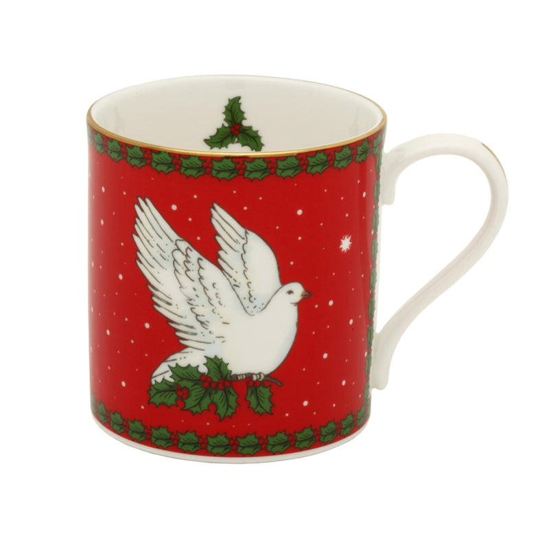 Dove of Peace Red Mug