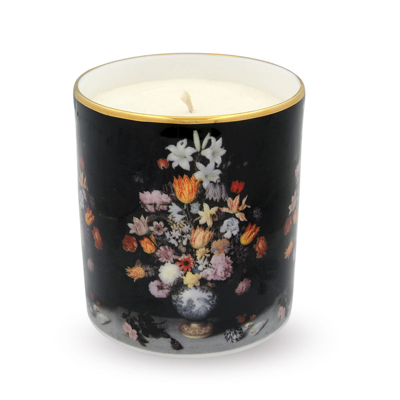 'Still Life Of Flowers In A Wan-Li Vase' By Bosschaert Hyacinth Scented Filled Candle