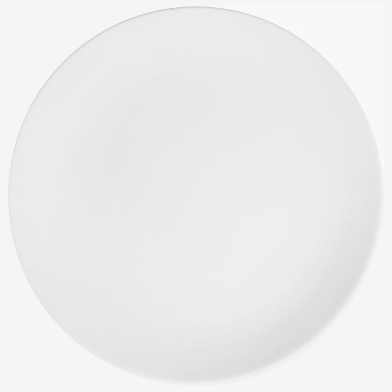 "White 10"" Coupe Plate"