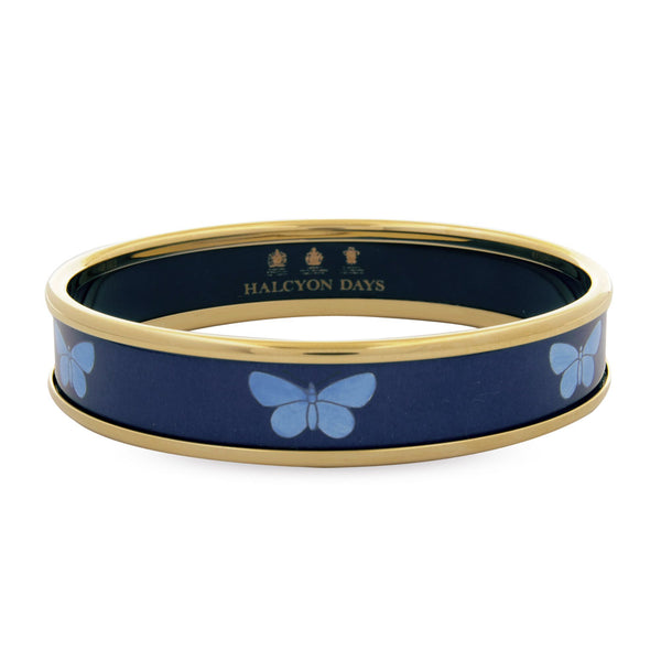 Butterfly Navy Bangle