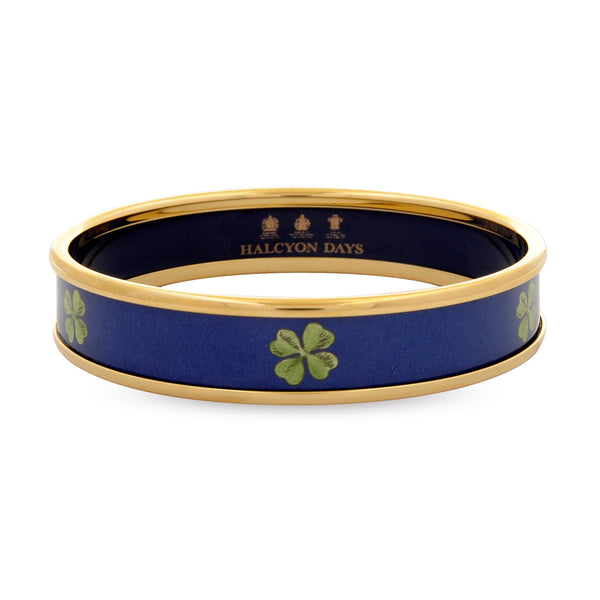 Four Leaf Clover Navy Bangle
