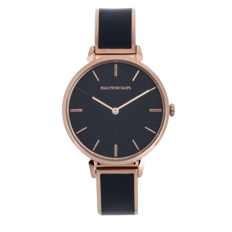 Maya Plain Navy & Rose  Gold Watch