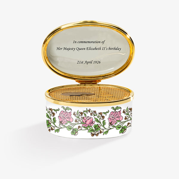 Happy Birthday Your Majesty, The Queen Elizabeth Rose Musical Box