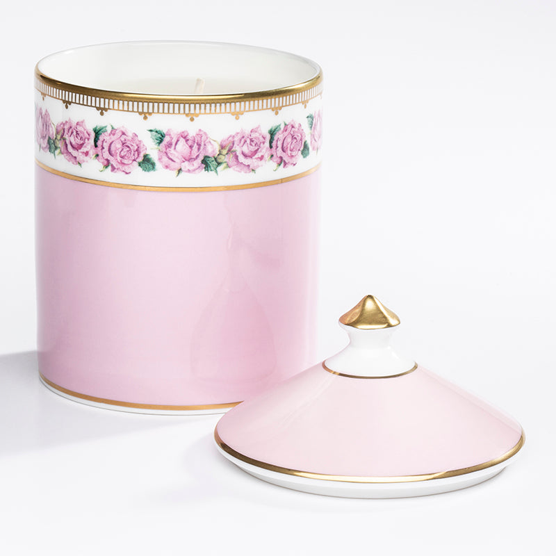 Shell Garden Rose Lidded Candle