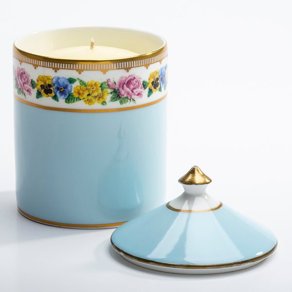 Shell Garden Blue Lidded Candle