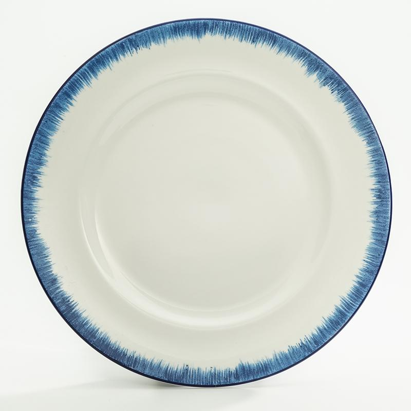 "Nina Campbell Serengeti  Feathered 8"" Plate"