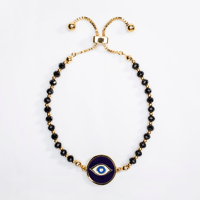 Evil Eye Sparkle Bracelet Midnight Blue & Gold