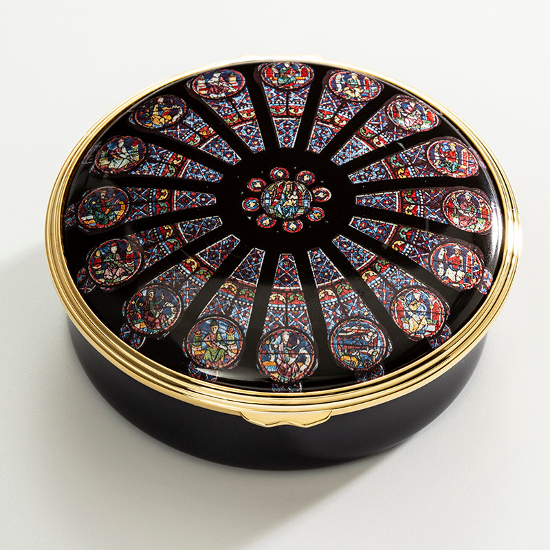 The Rose Window of Notre-Dame Enamel Box