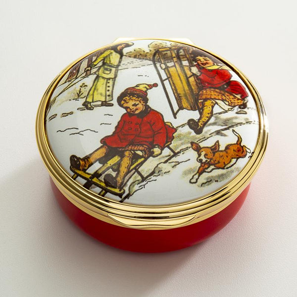 Winter Sledging Enamel Box