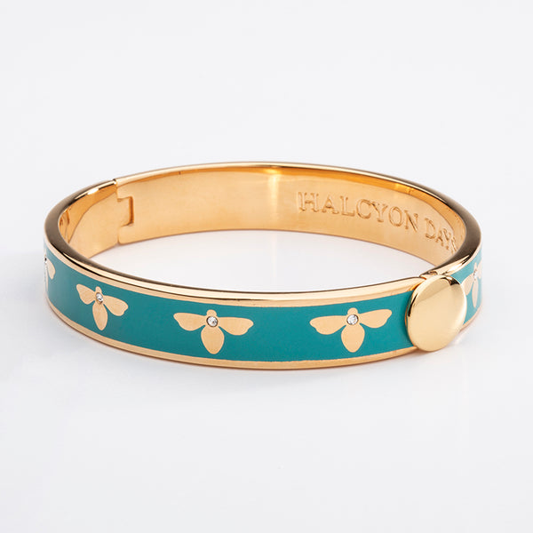 Bee Turquoise & Gold Bangle