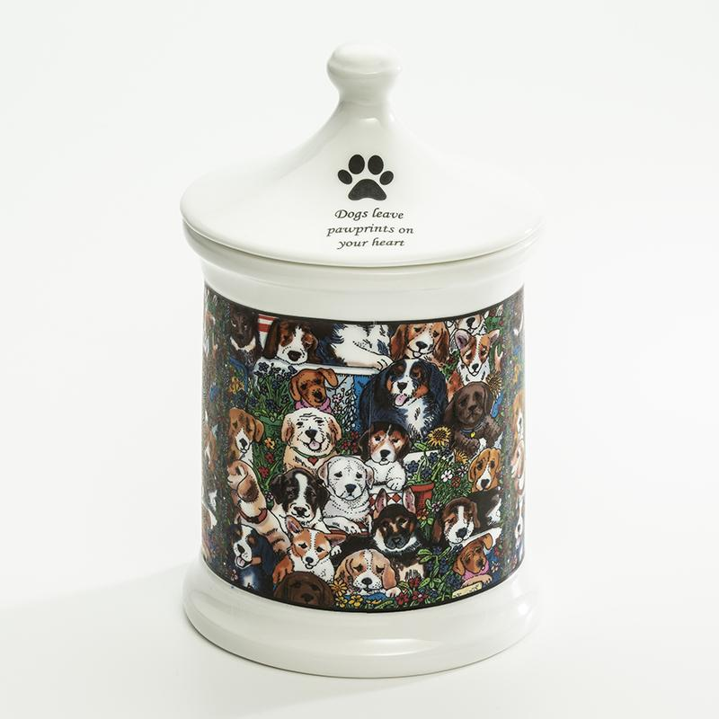 Dogs Leave Pawprints Small Treat Jar