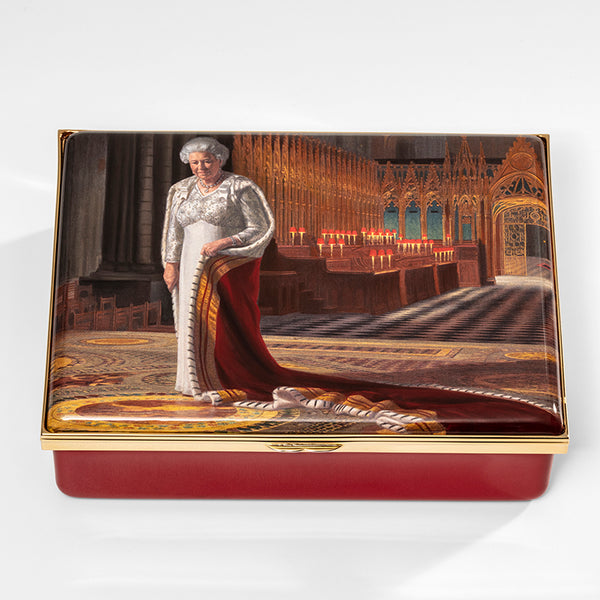 The Coronation Theatre by Ralph Heimans featuring Her Majesty Queen Elizabeth II Box