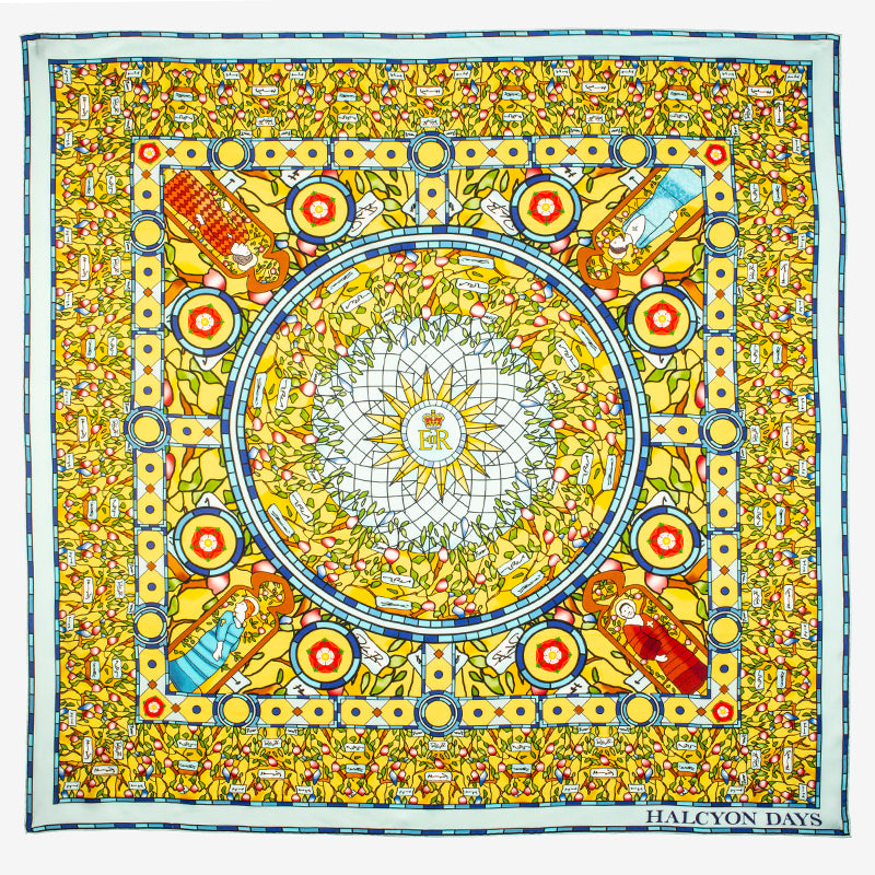Commonwealth Stained Glass Silk Scarf